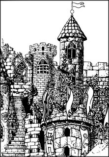 Vector of 'vector, castle, medieval'