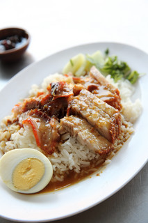 rice roasted red pork