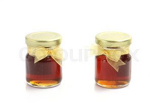 honey isolated on white background