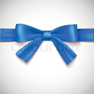 Blue ribbon with bow.
