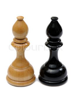 Wooden chess pieces light and dark colors bishop stock photo colourbox - Matching wood pieces of different colors ...