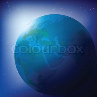 Vector of 'world, map, planet'