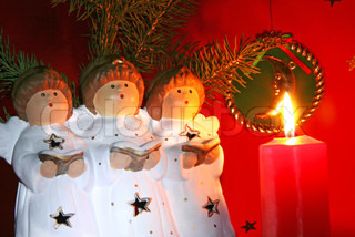 Christmas angels with book