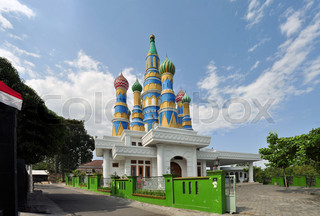 Mosque styled after St. Basil's Cathedral