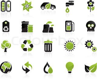 Vektor af 'alternativ, genbrug, hus'