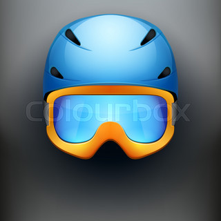 Front view of Classic Ski helmet and snowboard goggles.