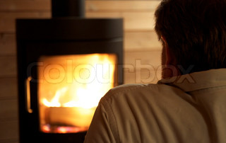 Image of 'fireplace, freeze, oven'