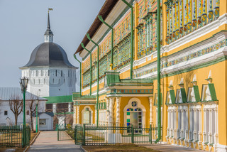 On the streets of Trinity Sergius Lavra.