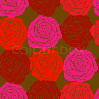 Seamless texture with red roses