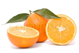 Juicy orange isolated on a white background.