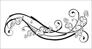 Vektor af 'vinranke, header, reproducere'