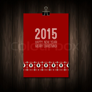 New Year 2015 Holiday background with numbers - holiday illustration.