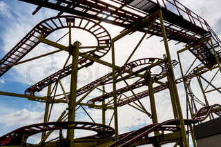 abandoned construction roller coaster