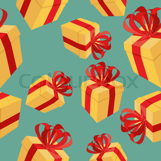 Gift boxes Seamless pattern. background for  holidays: birthdays, Christmas, holiday