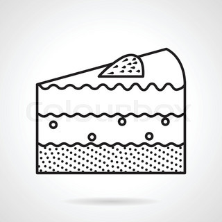 Piece of cake black line vector icon