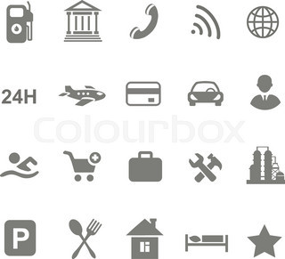 Location Icons Set Isolated On White Airport Car Shopping Restaurant Hotel Gas Station Vector 13236467 on best car gps buy