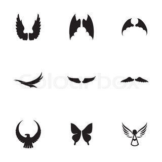Vector wing icon set