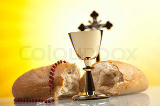 Symbol christianity religion, bright background, saturated concept