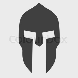 spartan mask template - temple of athena stencil vector illustration vector