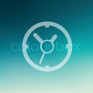 Clock in flat style icon