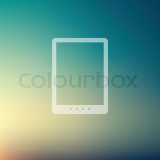 Tablet in flat style icon