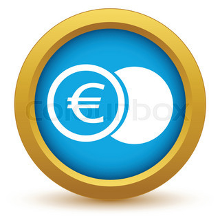 Gold euro coin icon