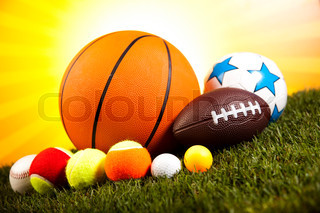 Sports Equipment detail, natural colorful tone