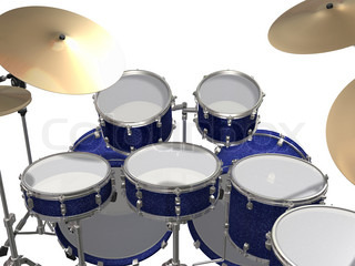Drum Kit isolated on a white background
