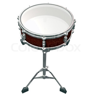 Share Drum isolated on a white background