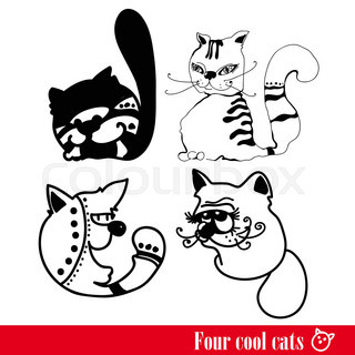 The band of four funkey cats