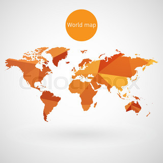 Vector golden globe with world map stock vector colourbox world map vector gumiabroncs Image collections