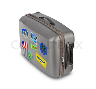 Travel case with stickers (my photos)