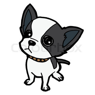 puppy dog isolated on white vector