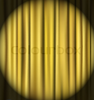 golden curtain theater background
