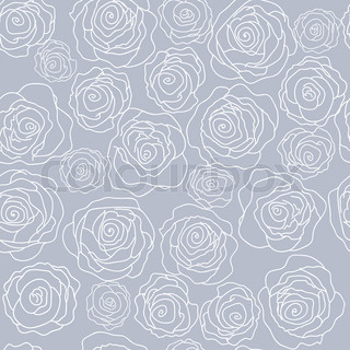 Seamless pattern with delicate beautiful roses