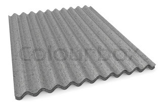 grey corrugated Slates for roofing
