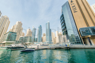 Dubai - JANUARY 10, 2015: Marina district on January 10 in UAE,