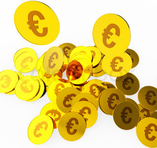 Euro Coins Indicates Money Finance And Currency