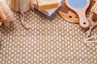 Wicker Baskets With Bath Accessories Stock Photo Colourbox