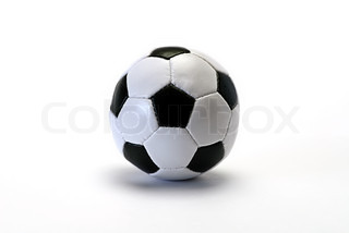football on white isolated be reflected,