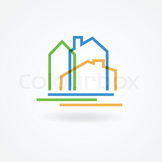 Vector Logo Design Template Houses Abstract Concept Icon