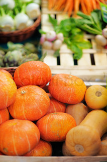 Fresh healthy bio pumpkins