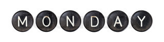 Typewriter buttons, isolated - Monday