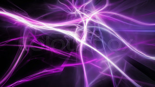 Magical purple energy lightning