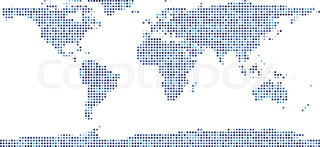 World map dot stock vector colourbox world map composed of dots gumiabroncs Image collections