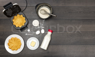 Preparation of waffles.