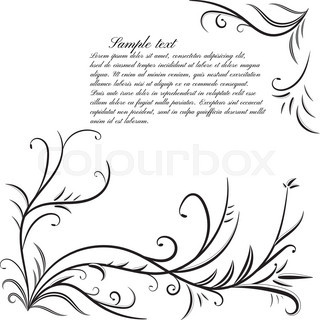 Monochrome background with floral elements