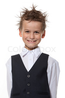 Punk boy isolated on a white background