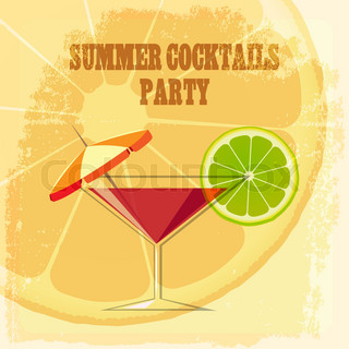 Summer Cocktail Party Theme Cocktail Drink With Lime