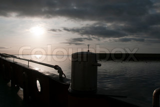 sunrise in the early morning from the boat